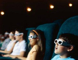 Mettere le lenti a contatto al cinema 3D